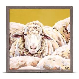 GreenBox 'Sheepish' by Emily Drummond Mini Framed Art - 6 x 6