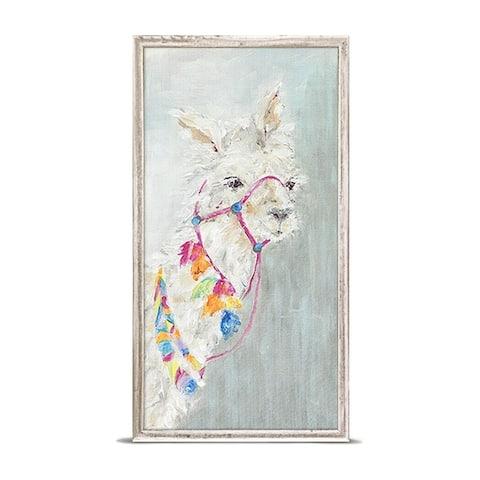 GreenBox 'Sweet Llama' by Susan Pepe Mini Framed Art - 5 x 10