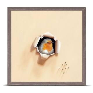 GreenBox 'Trespasser - Cheeky Beggar' by Camille Engel Mini Framed Art - 6 x 6