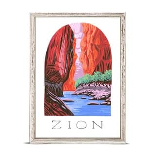 GreenBox 'National Parks - Zion' by Angela Staehling Mini Framed Art - 5 x 7