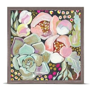 GreenBox 'Succulent Florals' by Shelly Kennedy Mini Framed Art - 6 x 6