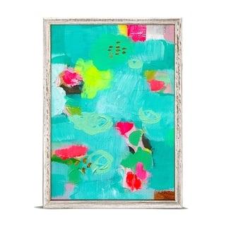 GreenBox 'Turquoise Lime Rose' by Mati Rose McDonough Mini Framed Art - 5 x 7
