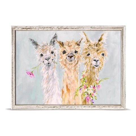 GreenBox 'Sweet Alpacas' by Susan Pepe Mini Framed Art - 7 x 5
