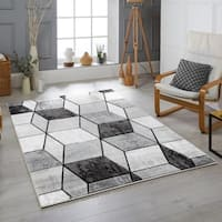 Modern Geometric Shapes Multi Color Are Rug
