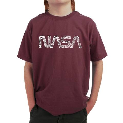 Boy's Word Art T-shirt - NASA Worm - LA Pop Art