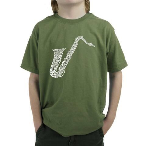 Boy's Word Art T-shirt - Sax - LA Pop Art