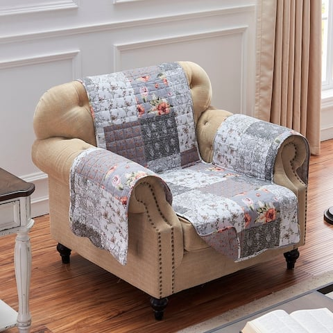 The Gray Barn Spring Arrow Grey Reversible Arm Chair Protector