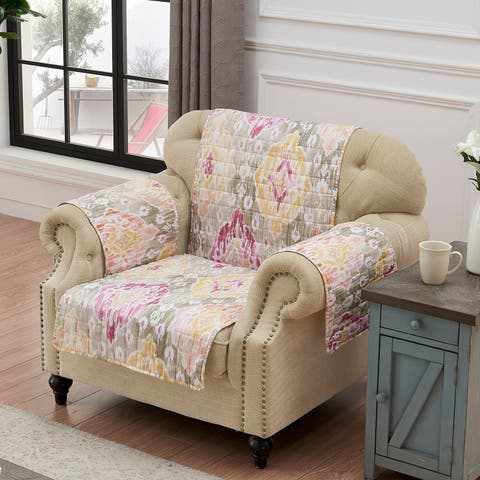 Barefoot Bungalow Ibiza Blush Reversible Arm Chair Protector