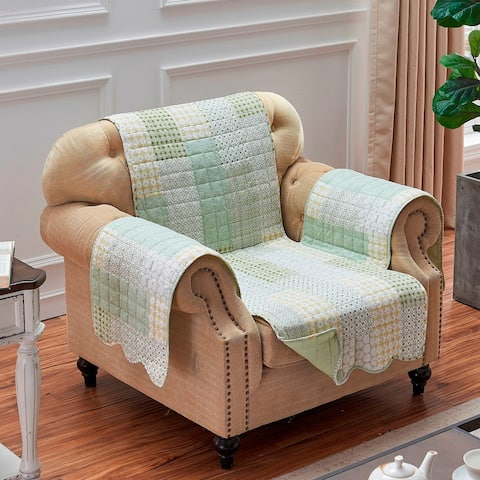 Porch & Den Lebanon Sage Reversible Arm Chair Protector