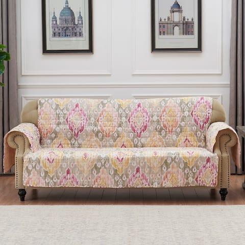 Porch & Den DeeAnn Blush Reversible Sofa Couch Protector