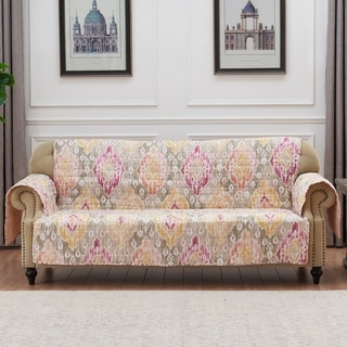 Link to Porch & Den DeeAnn Blush Reversible Sofa Couch Protector Similar Items in Slipcovers & Furniture Covers