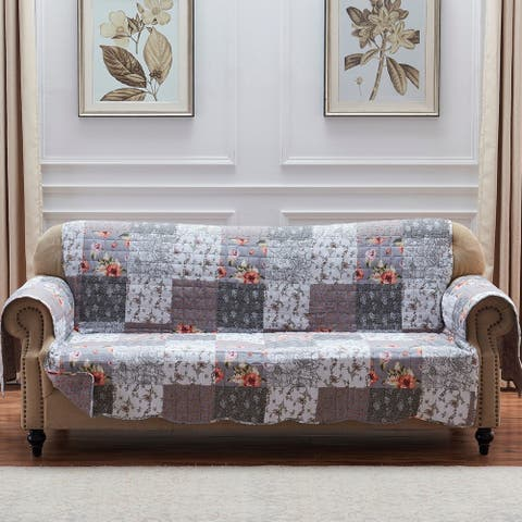 The Gray Barn Spring Arrow Grey Reversible Sofa Couch Protector