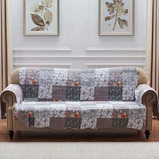 The Gray Barn Spring Arrow Grey Reversible Sofa Couch Protector