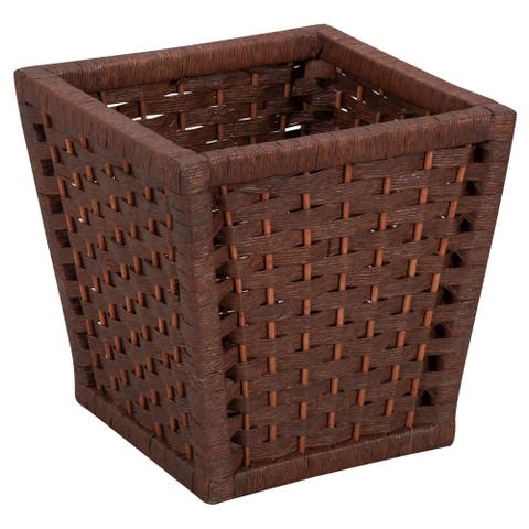 Household Essentials Paper Rope Wicker Waste Basket