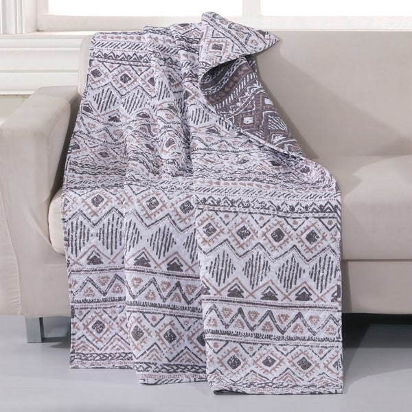 Barefoot Bungalow Denmark Ivory Reversible Throw Blanket. Opens flyout.