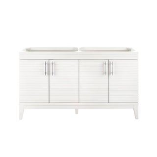 Lineage 59-in. Glossy White Double Vanity