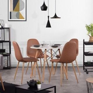 Carson Carrington Sagudden Modern Faux Leather Dining Chair (Set of 4)