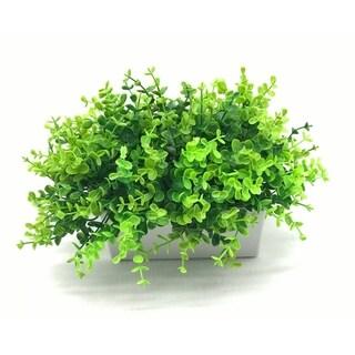 Enova Home Artificial Eucalyptus Grass Plants in Decorative Vase - Green