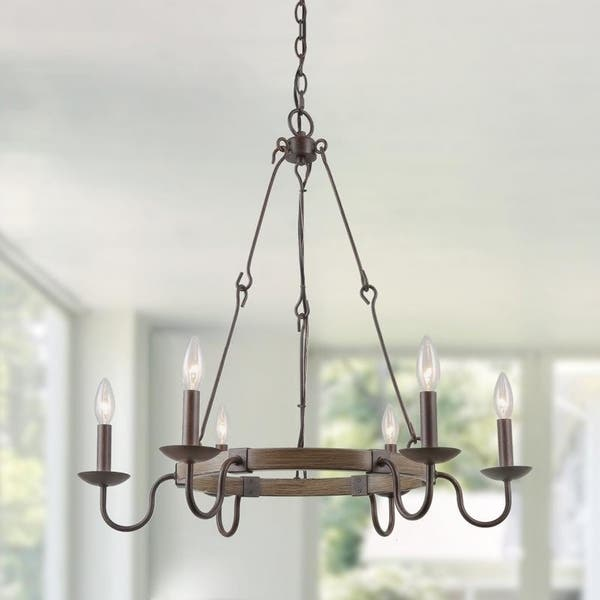 Shop Lnc Farmhouse Chandeliers 6 Lights Kitchen Island