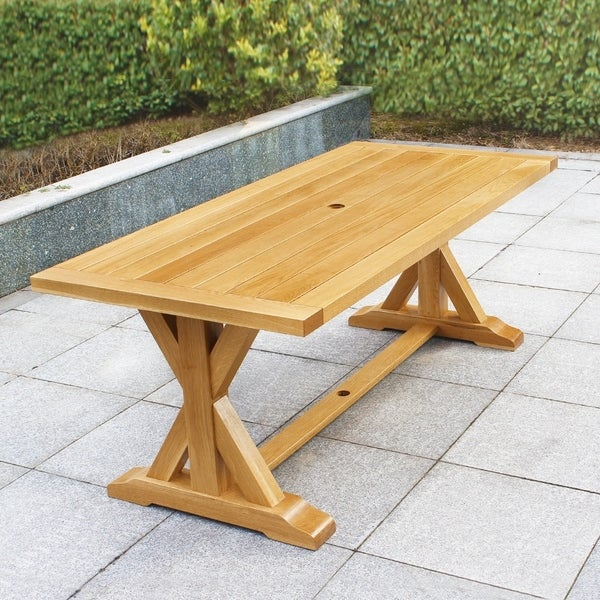 Cambridge Casual Baytown White Oak Rectangular Patio Dining Table. Opens flyout.