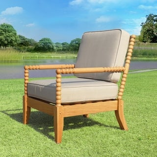 Havenside Home Kivalina White Oak 2-pack Patio Lounge Chair
