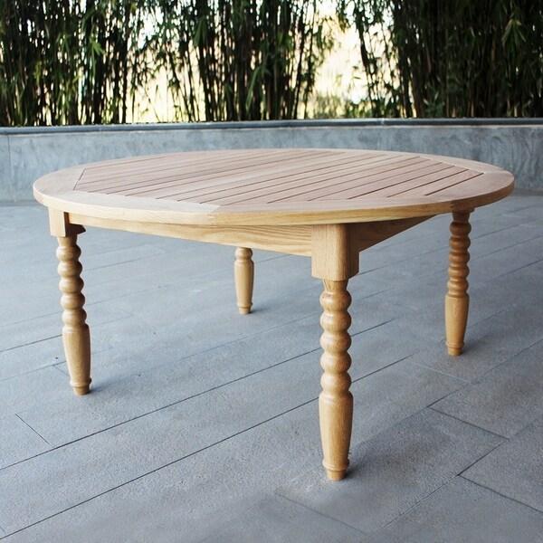 Havenside Home Kivalina White Oak Patio Coffee Table