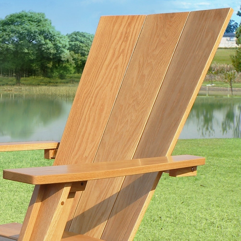 Marvelous Cambridge Casual Baytown White Oak Adirondack Chair With Ottoman Creativecarmelina Interior Chair Design Creativecarmelinacom
