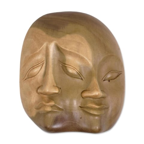 Handmade Two Dimensions Wood mask (Indonesia)