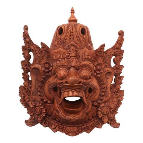 Handmade Evil Kumbakarna Wood mask (Indonesia)