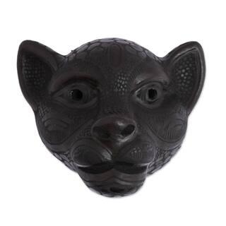 Black Jaguar Ceramic mask