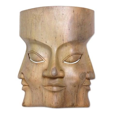 Handmade Three Dimensions Wood mask (Indonesia)