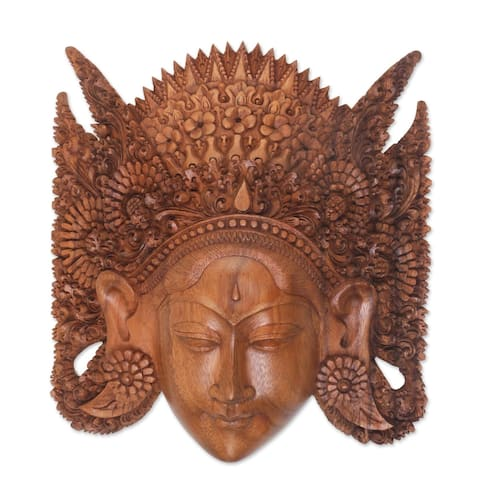 Handmade Beautiful Sita Wood mask (Indonesia)