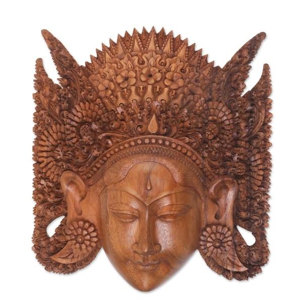Handmade Beautiful Sita Wood mask (Indonesia). Opens flyout.