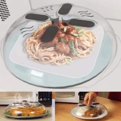 VicTsing Microwave Hover Anti-Sputtering Cover Food Splatter Guard with Steam Vents