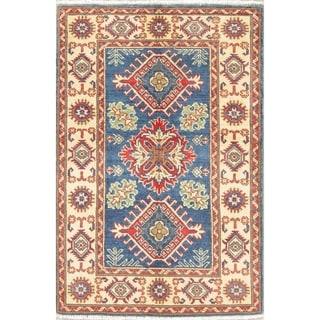 "Southwestern Kazak Pakistan Oriental Hand Knotted Wool Area Rug - 4'1"" x 2'9"""