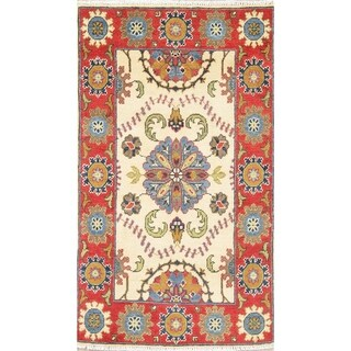 """Oriental Kazak-Chechen Traditional Hand Knotted Pakistan Area Rug - 4'3"""" x 2'8"""""""