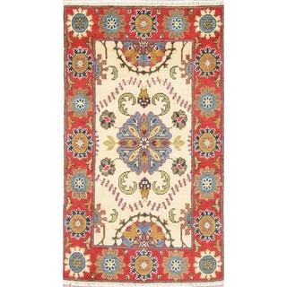 "Oriental Kazak-Chechen Traditional Hand Knotted Pakistan Area Rug - 4'3"" x 2'8"""