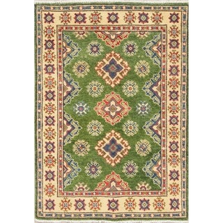 "Traditional Kazak-Chechen Pakistani Hand Knotted Oriental Area Rug - 4'0"" x 2'9"""