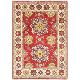 """Oriental Traditional Kazak-Chechen Hand Knotted Pakistan Area Rug - 3'11"""" x 2'9"""""""