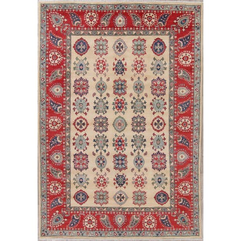 "Oriental Kazak Pakistan Hand Knotted Wool Traditional Area Rug - 10'0"" x 6'9"""