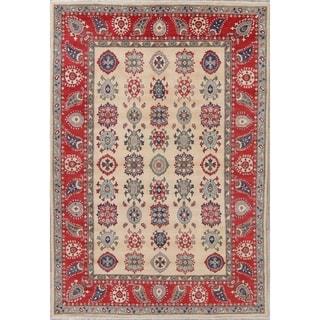 "Oriental Kazak Pakistan Hand Knotted Wool Traditional Area Rug - 10'0"" x 6'9"""