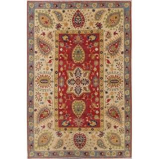 "Kazak-Chechen Novelty Hand Knotted Pakistan Wool Oriental Area Rug - 9'11"" x 6'9"""