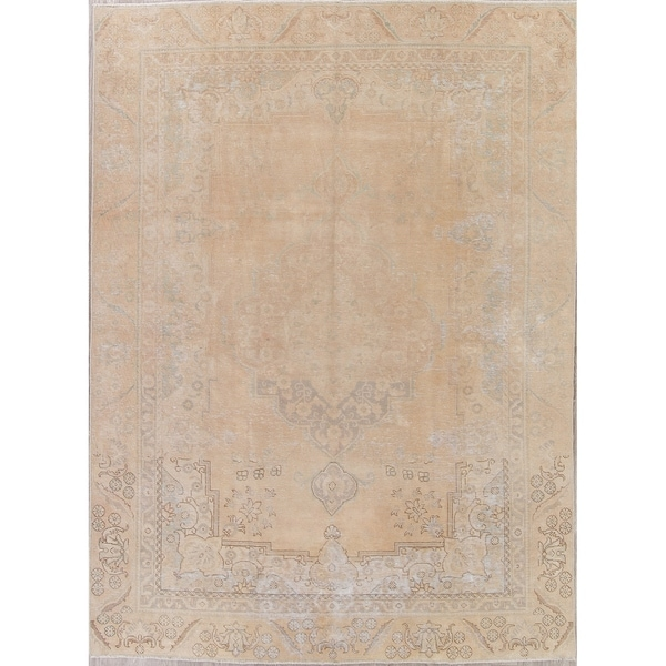 "Traditional Worn Faded Oriental Handmade Distressed Persian Area Rug - 11'9"" x 8'6"""
