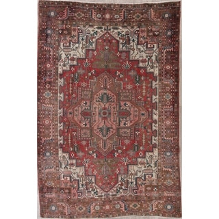 """Oriental Heriz Traditional Persian Hand Knotted Wool Area Rug - 10'11"""" x 7'3"""""""