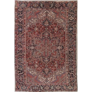 """Vintage Traditional Heriz Persian Oriental Hand Knotted Wool Area Rug - 11'7"""" x 7'10"""""""