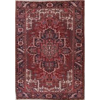 "Traditioanl Heriz Oriental Persian Hand Knotted Wool Area Rug - 10'9"" x 7'10"""