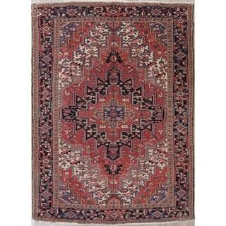 "Vintage Oriental Heriz Hand Made Traditional Persian Wool Area Rug - 10'7"" x 7'4"""