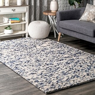 The Curated Nomad Ils Textured Braided Wool/Cotton Blend Area Rug