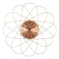 "La Crosse Clock 83247-BHG 24"" Mid-Century Orbit Copper Metal Quartz Clock"