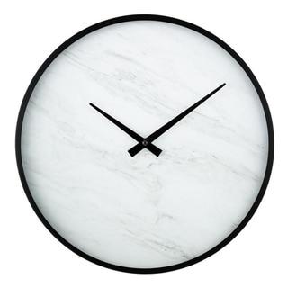 "La Crosse Clock 83216-BHG 14"" Modern Faux Marble Metal framed Quartz clock"